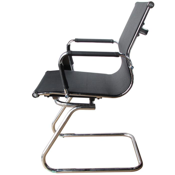 Cadeira Interlocutor em Tela Mesh PEL-7010V Preta Design Charles Eames