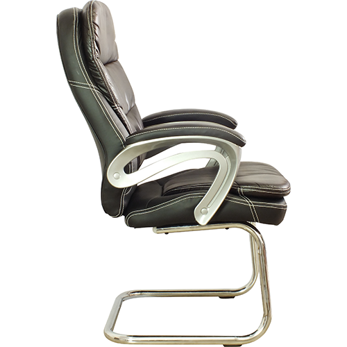 Cadeira Interlocutor em Couro PU PEL-9018V Tabaco Pelegrin
