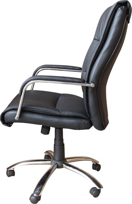 Conjunto com 1 Cadeira Presidente e 2 Cadeiras Interlocutores em Couro PU PEL-107H/V Pretas Pelegrin