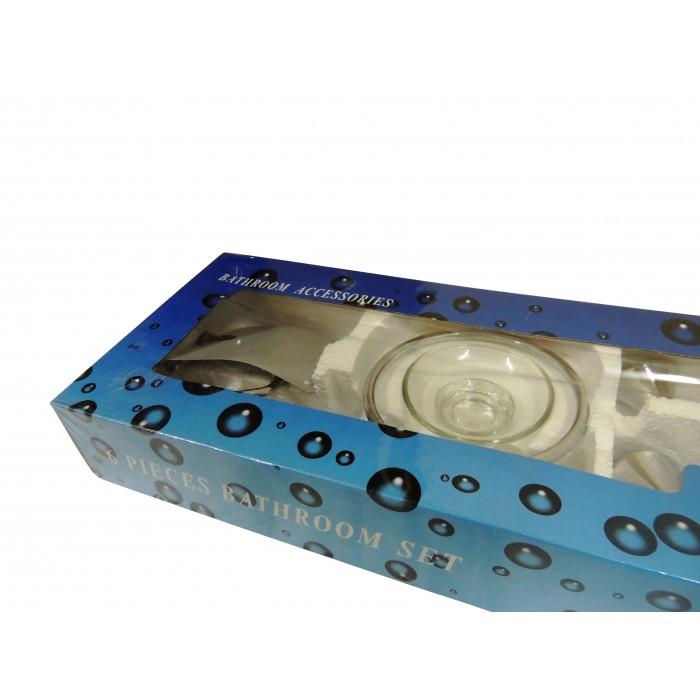 Kit com 6 Acessórios para Banheiro Loomix P-018