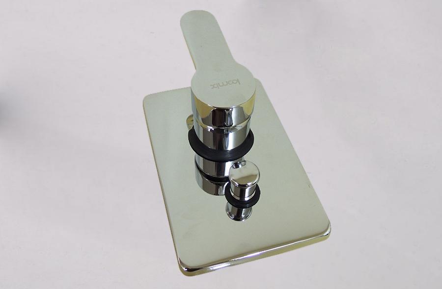 Ducha com Misturador Monocomando e Ducha Auxiliar Loomix P-015 Quadrada