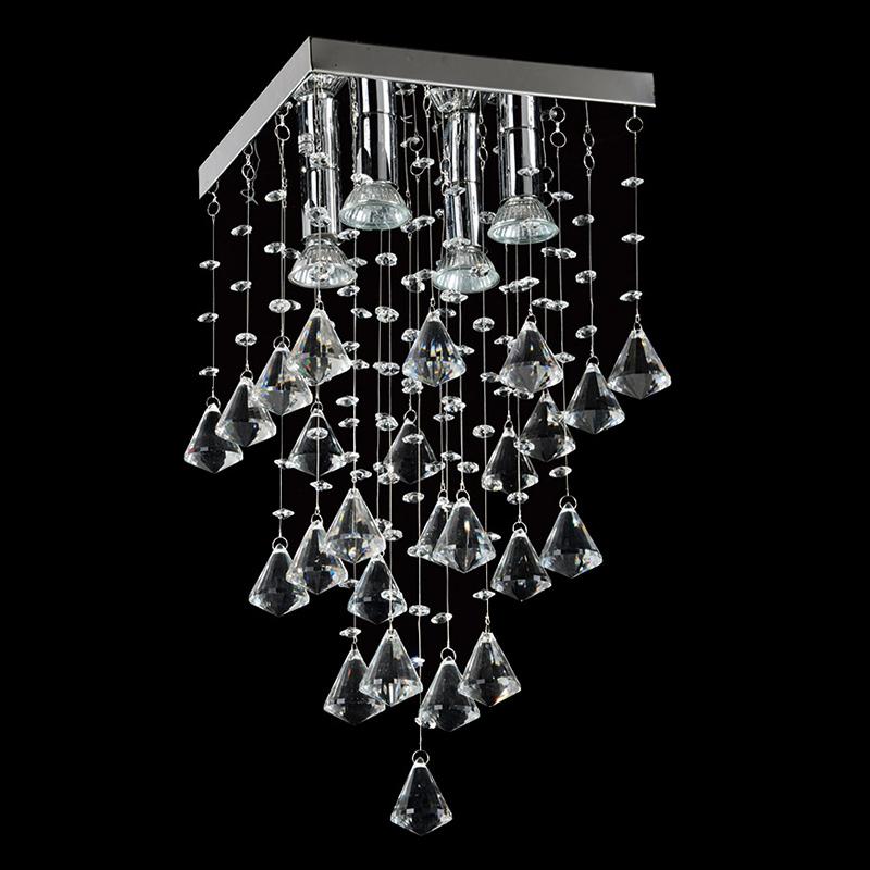 Lustre Star com Adornos em Acrílico de Alto Brilho - Cor Cristal