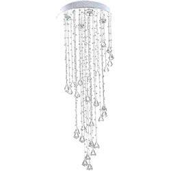 Lustre Waterfall com Adornos em Acrílico de Alto Brilho - Cor Cristal