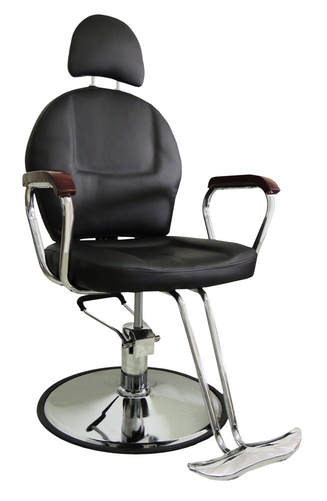 Cadeira Hidráulica em Couro PU PEL-C1306 Preta