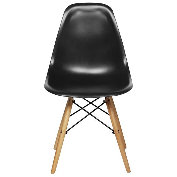 Cadeira em ABS PW-071 Preta com Design Charles Eames Dkr Eiffel