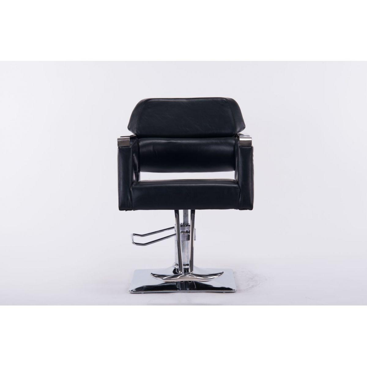 Cadeira Hidráulica de Salão Barbeiro LUX  Em Couro PU UT-C0398