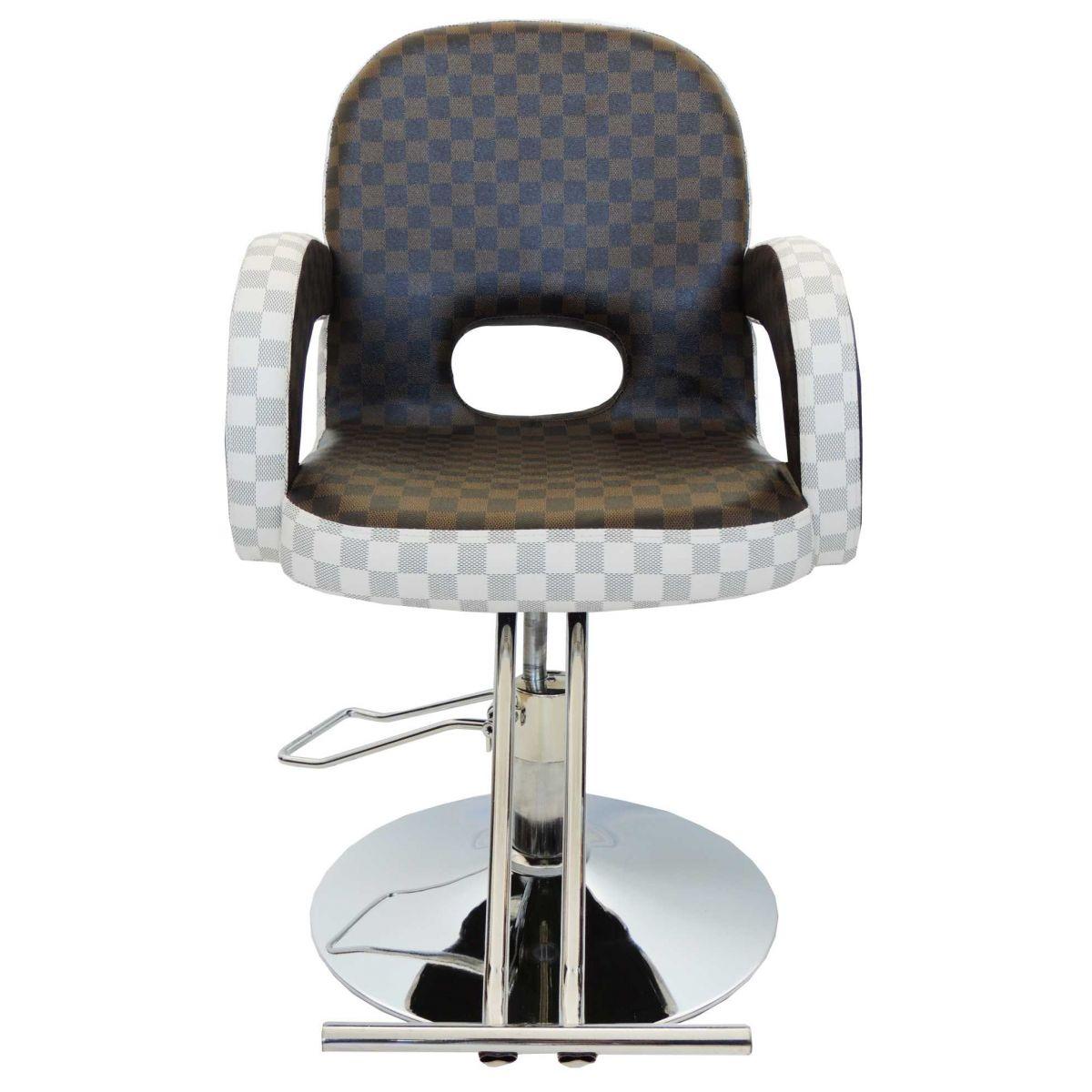 Cadeira Hidráulica de Salão e Barbeiro LV em Couro PU UT-029