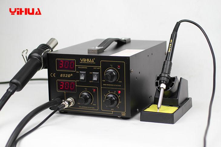 Estação de Solda e Retrabalho Antiestática Profissional YIHUA 852D+