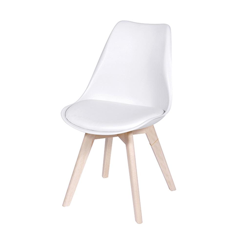 Kit 4 Cadeiras Design Modesti Charles Eames PEL-1855B Cor Branca