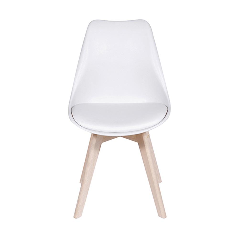 Kit 6 Cadeiras Design Modesti Charles Eames PEL-1855B Cor Branca