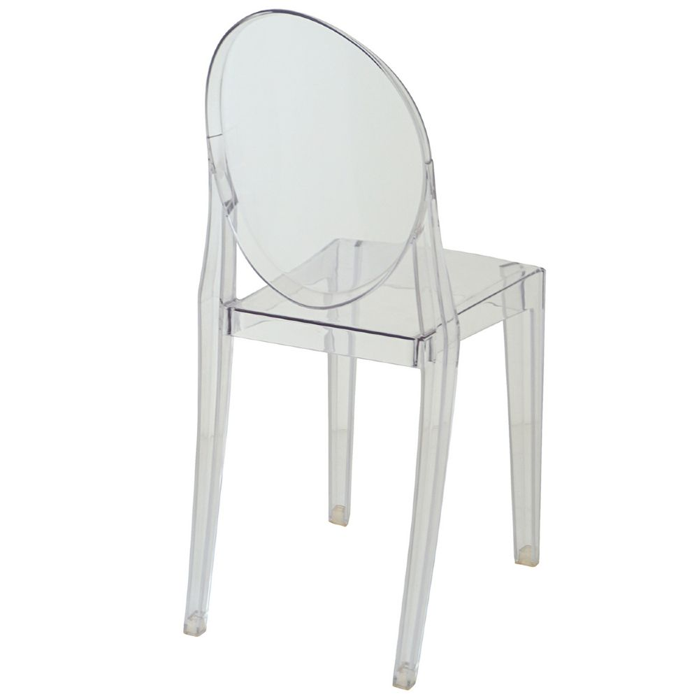 Kit 4 Cadeiras Design Victoria Ghost Pelegrin PEL-1752B Fixa - Acrílico Transparente