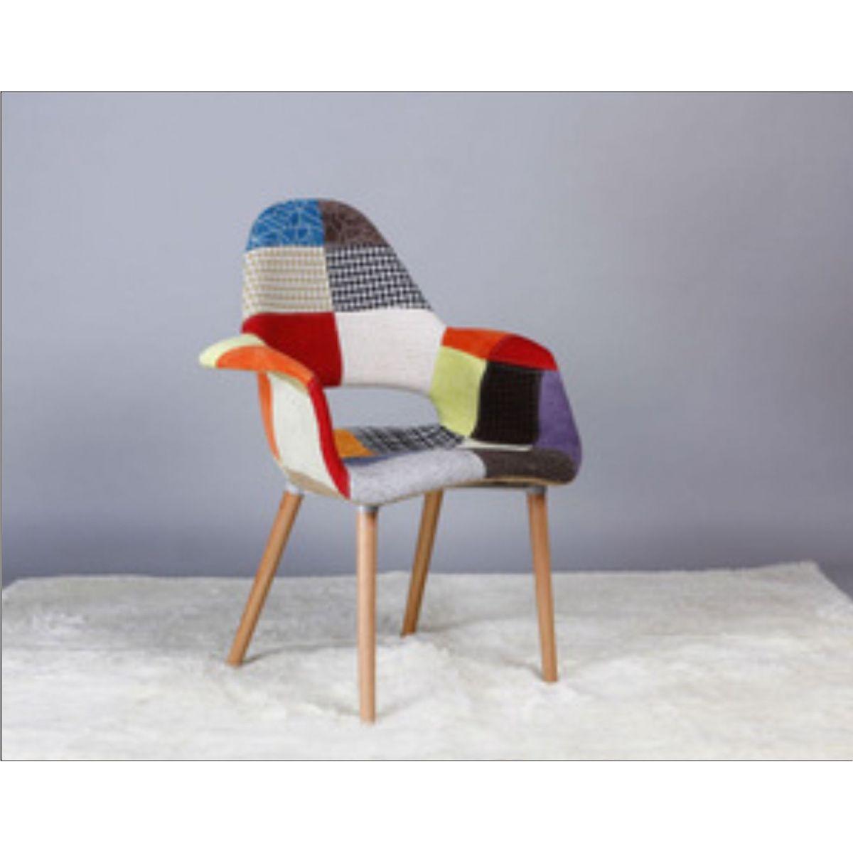 Kit 4 Cadeiras Charles Eames Patchwork Orgânica Pelegrin FW-073F