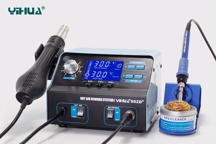 Estação de Solda e Retrabalho Visor LCD YIHUA 992D+