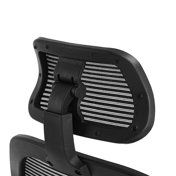 Cadeira Presidente Ergonômica Pelegrin PEL-3008 Em Tela Mesh Preta Com Apoio Lombar