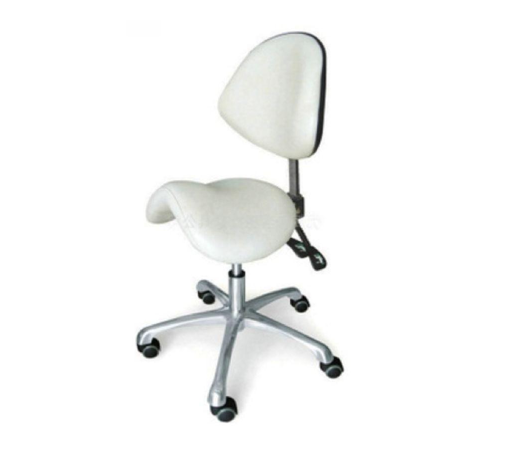 Cadeira Giratória Modelo Sela Couro PU Branca Pelegrin PEL-043