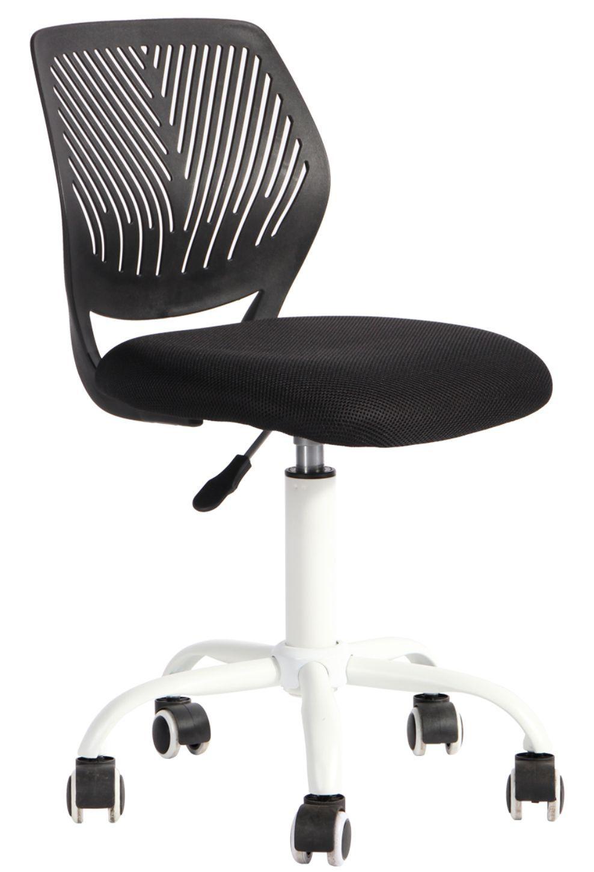 Cadeira Kids Pelegrin PEL-3300 Tela Mesh Preta e Branca