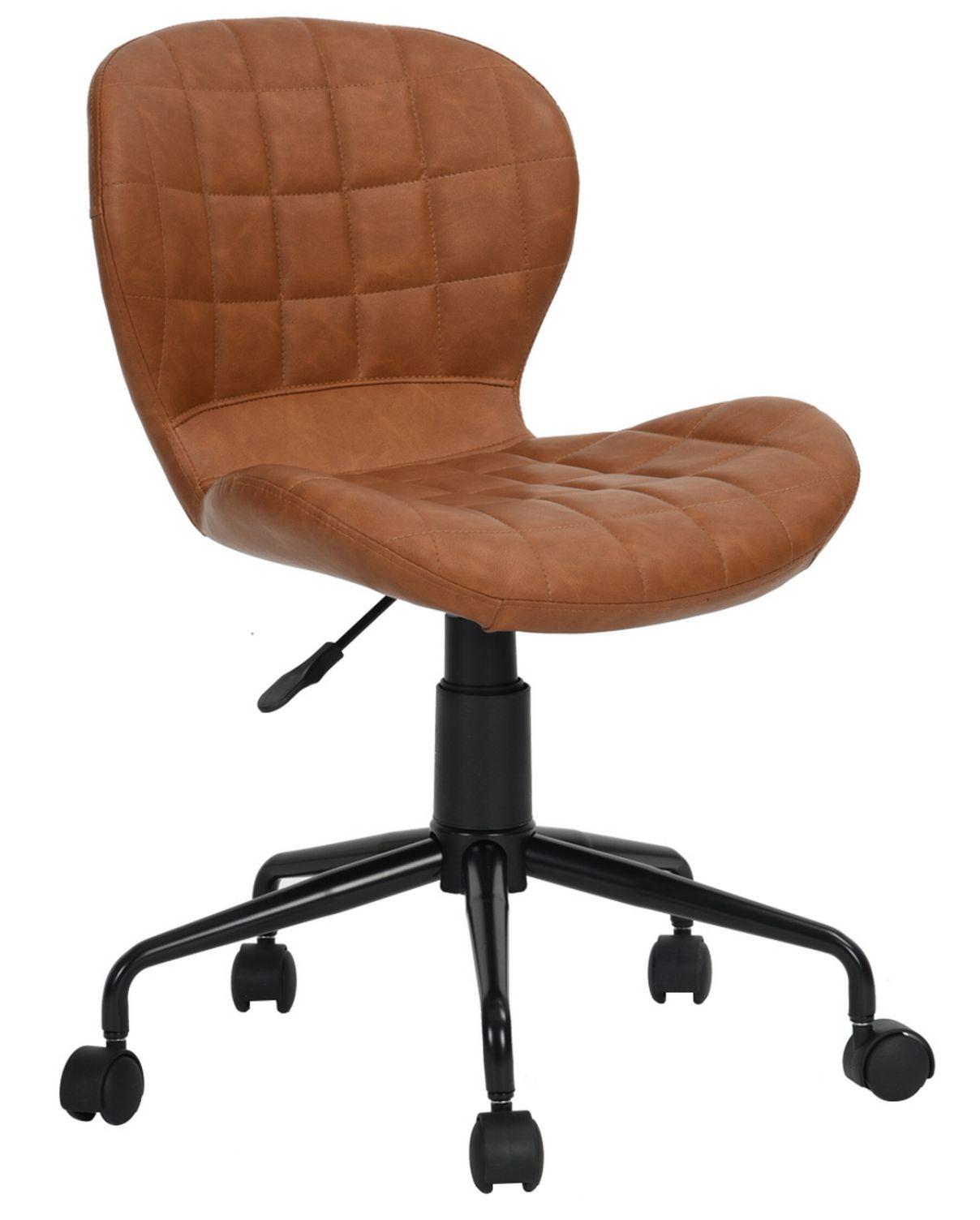 Cadeira Secretária Freedom Pel-2520 Marrom Caramelo