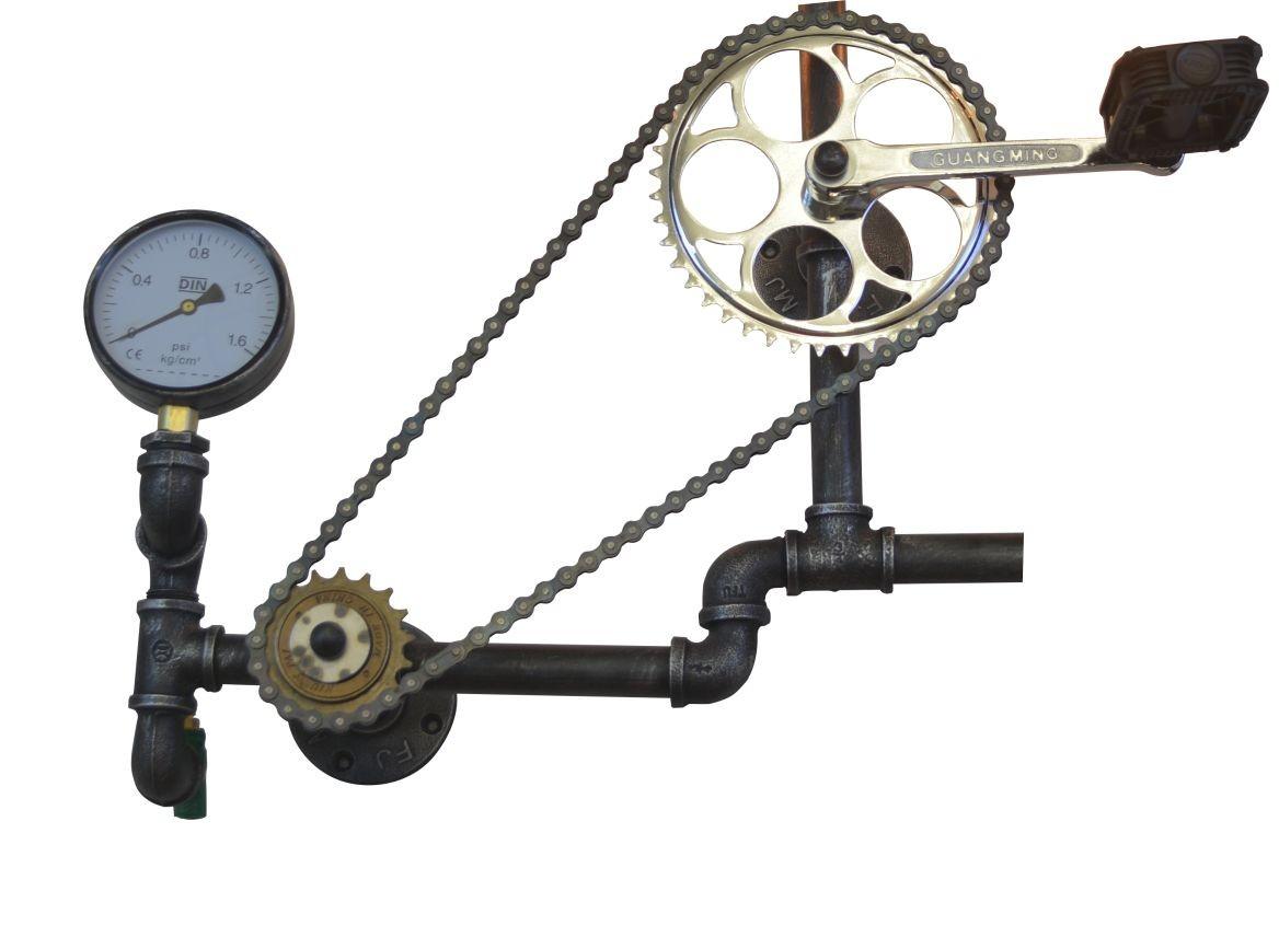 Lustre de Parede Retrô Bike Tube em Metal Pelegrin PEL-062