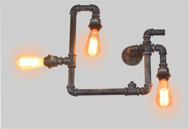 Lustre de Parede Retrô Tube Industrial Pelegrin PEL-061 em Metal