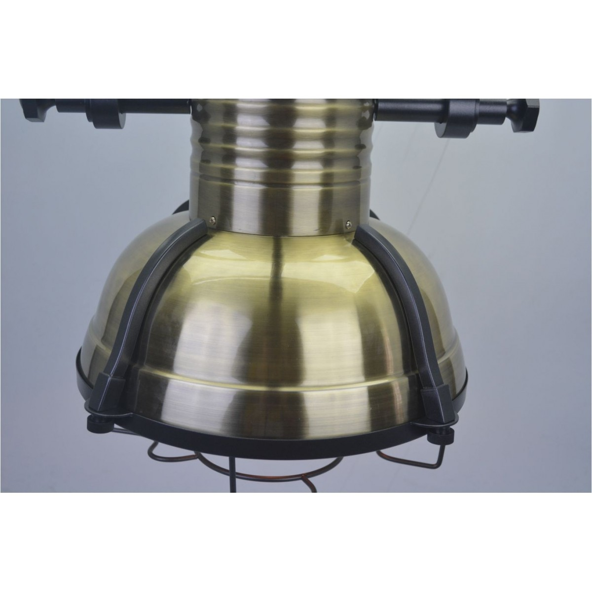 Lustre Pendente Retro Scuba II Metal Cor Bronze Pelegrin PEL-044