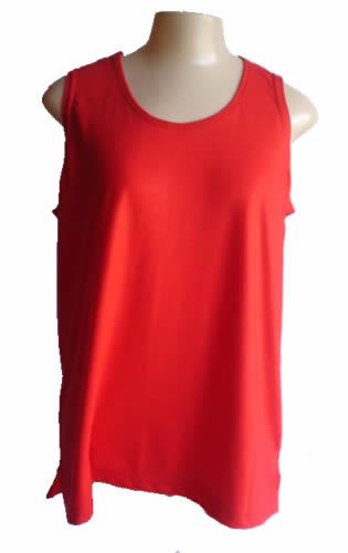 Regata Feminina Vermelha  - Fábrica de Camisetas Impakto