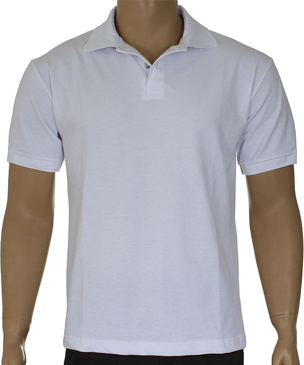 5bc117a675 Camisa Polo Masculino Branca - Fábrica de Camisetas Impakto ...