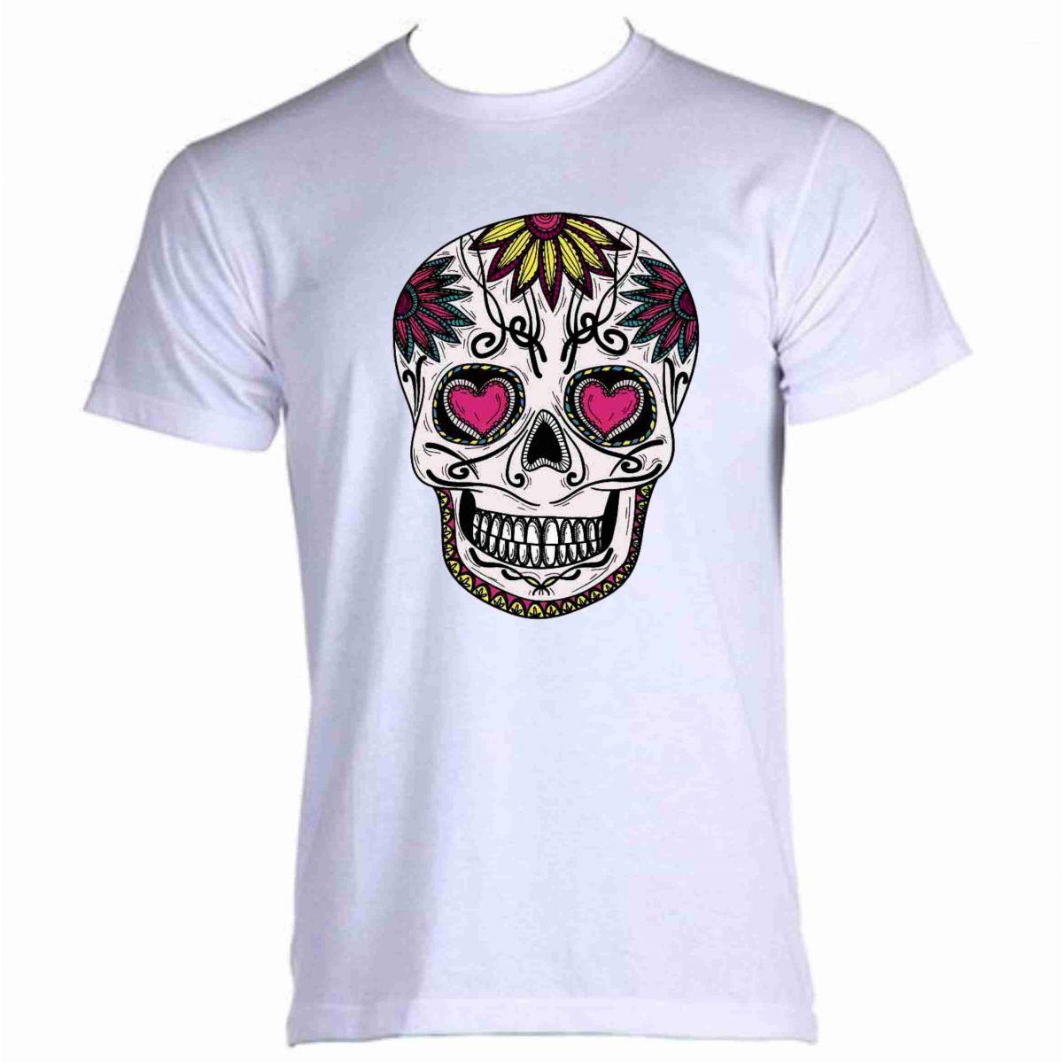 Baby Look  caveira mexicana   - Fábrica de Camisetas Impakto