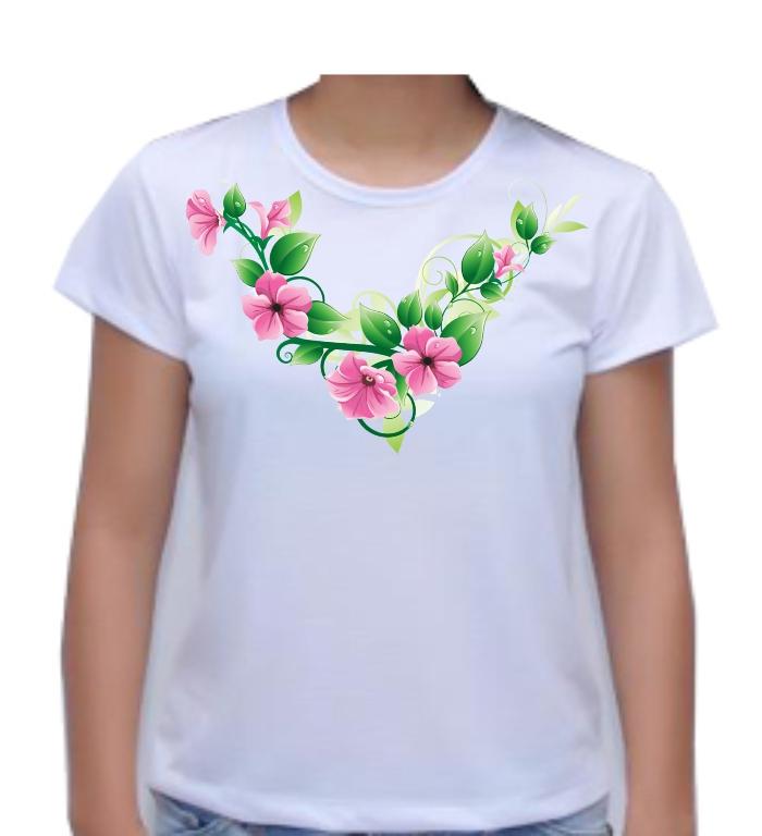Camiseta Estampada Flores