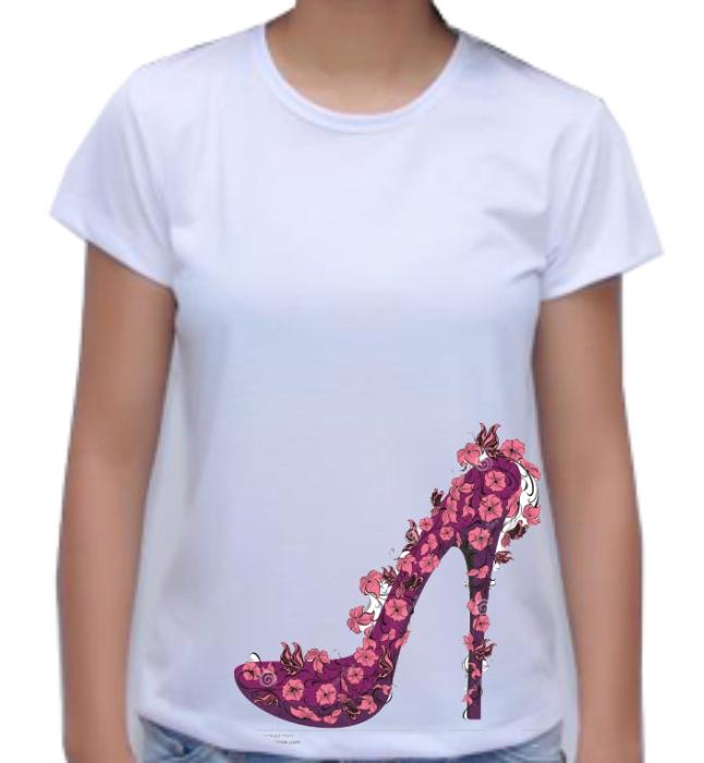 Camiseta Estampada Flores  - Fábrica de Camisetas Impakto