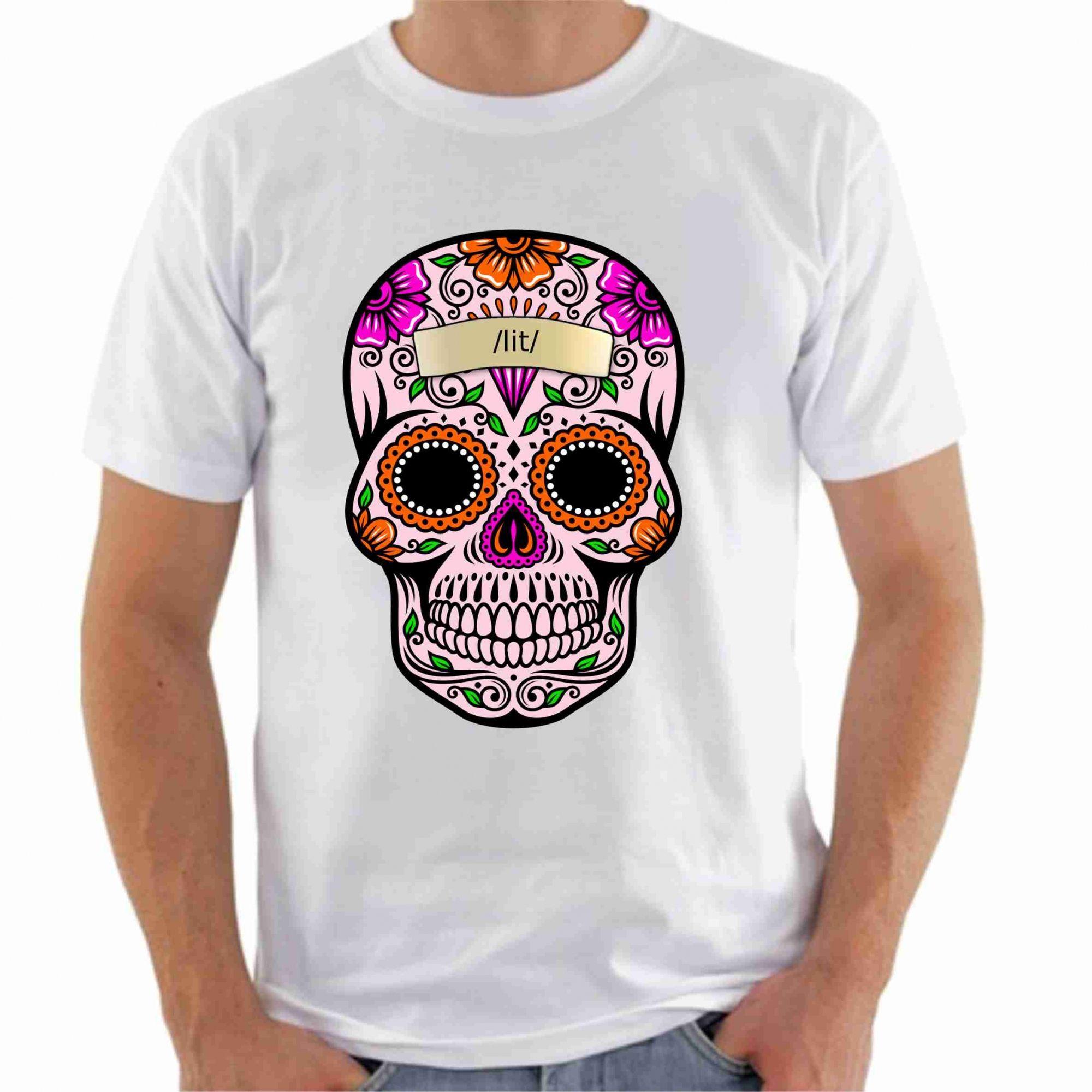 87f420168a Camiseta Estampa Caveira - Fábrica de Camisetas Impakto ...