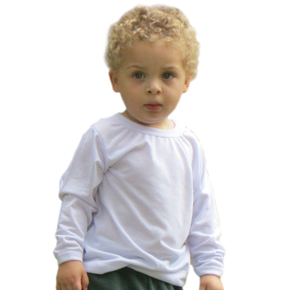 Camisetas manga longa branca