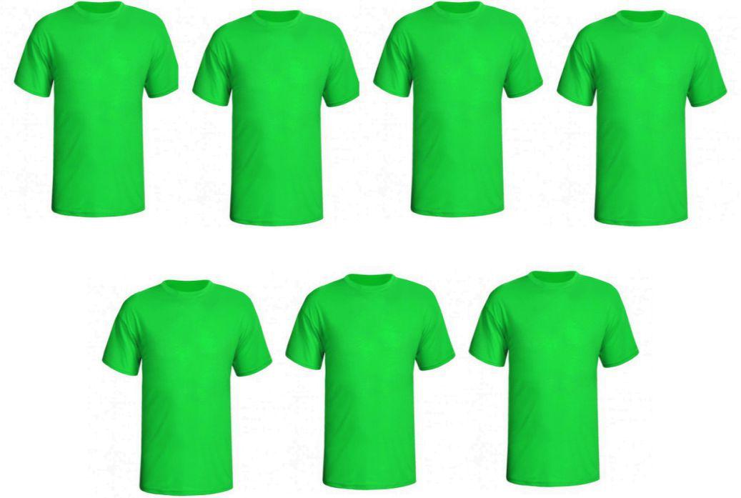 CÓPIA -  7 CAMISETAS Básica (verde )  na melhor malha fria PV