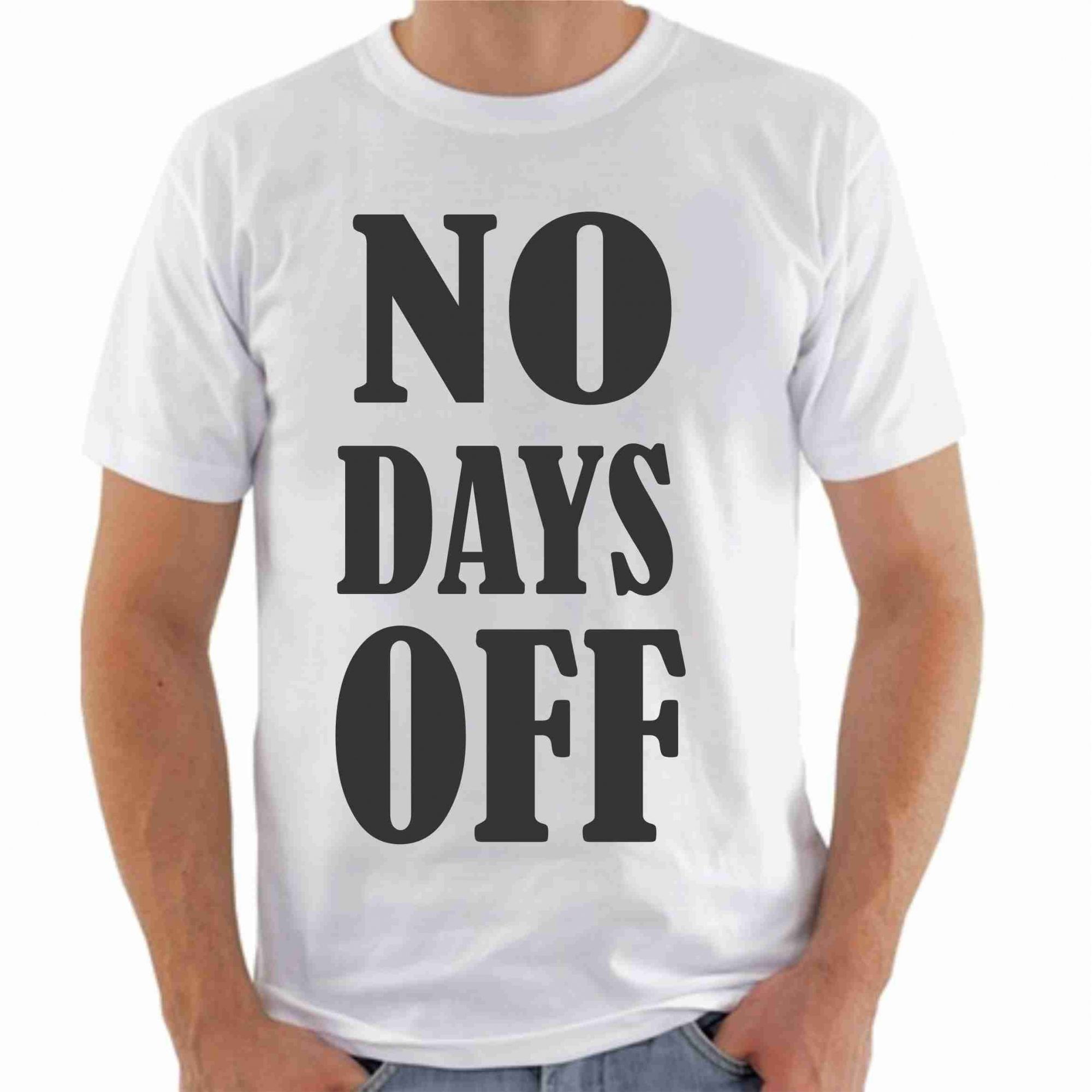 Camiseta No days off