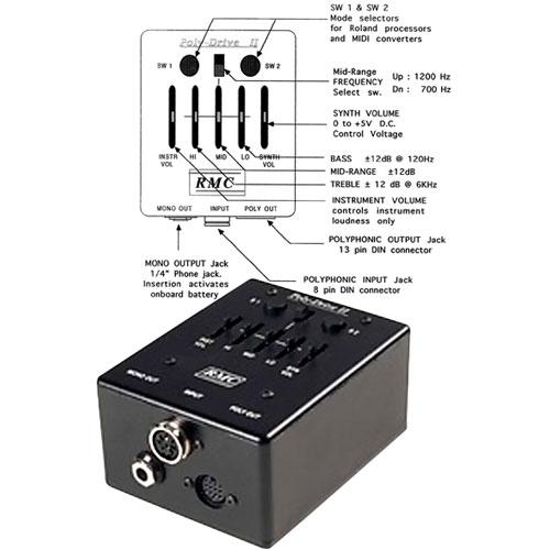 Captador RMC p/ Bandolim 8 cordas e Preamp externo PDII  - SOLO MUSICAL