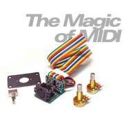 Captador RMC p/ Guitarra ponte Strato/Tele e preamp interno PDIK