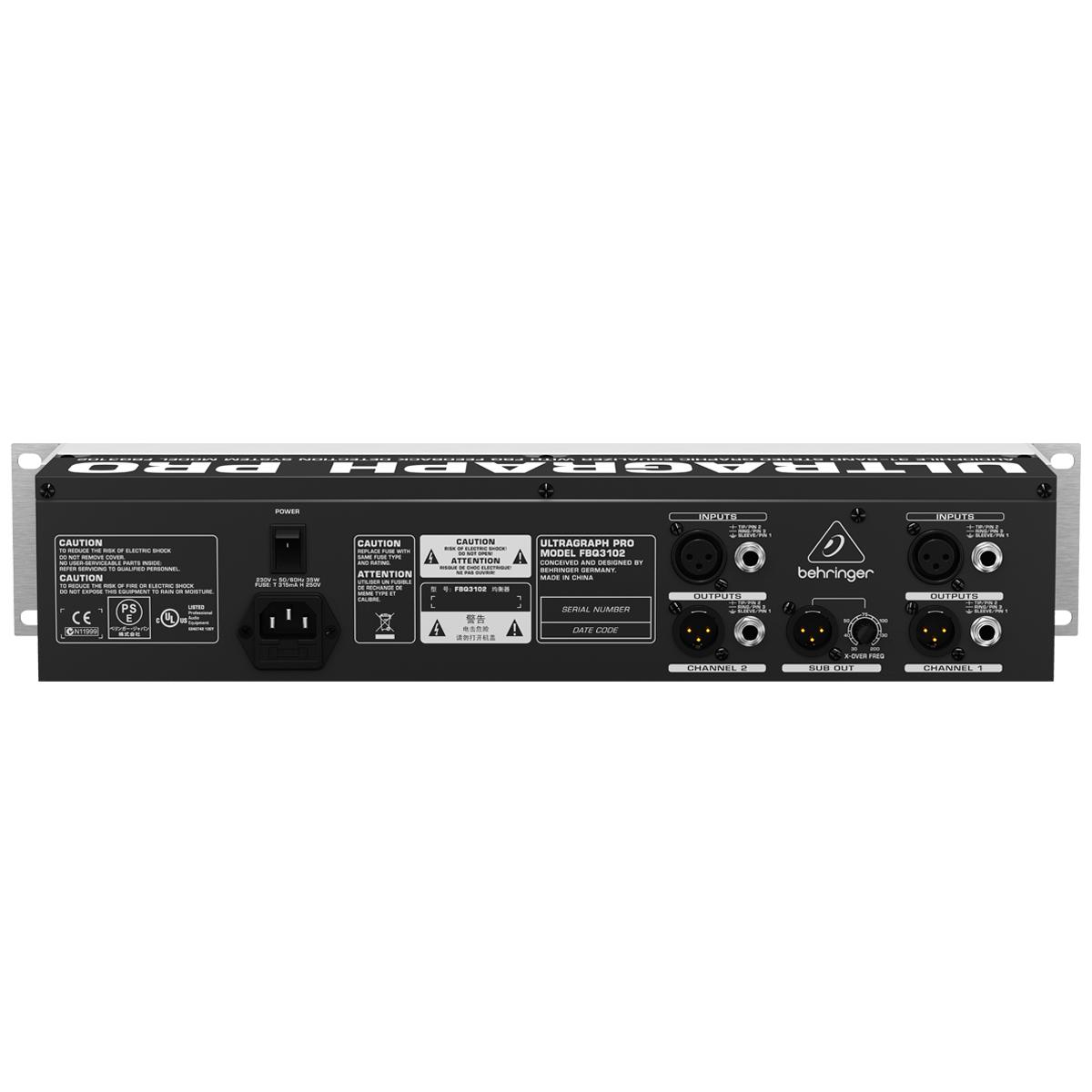 FBQ3102 - Equalizador Gr�fico 31 Bandas Ultragraph PRO FBQ 3102 - Behringer