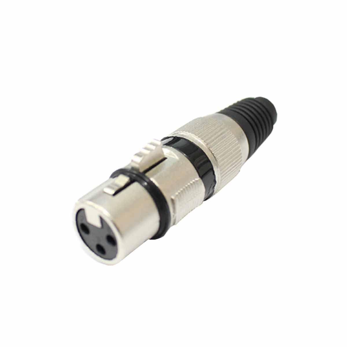Q33BK - Conector Cannon XLR Fêmea Linha Q 33 BK - CSR