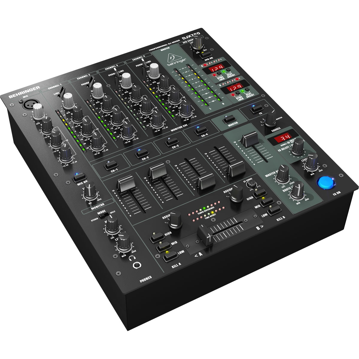 DJX750 - Mixer DJ 5 Canais Pro Mixer DJX 750 - Behringer