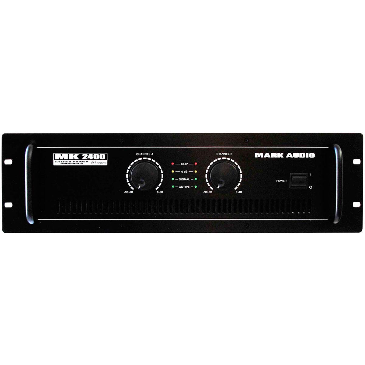 MK2400 - Amplificador Estéreo 2 Canais 400W MK 2400 - Mark Audio