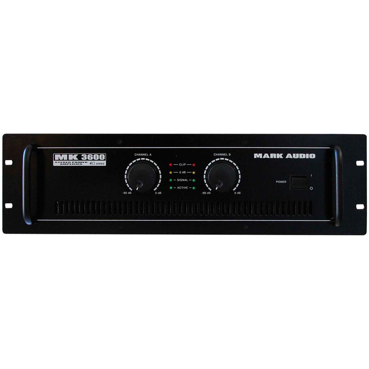 MK3600 - Amplificador Estéreo 2 Canais 600W MK 3600 - Mark Audio
