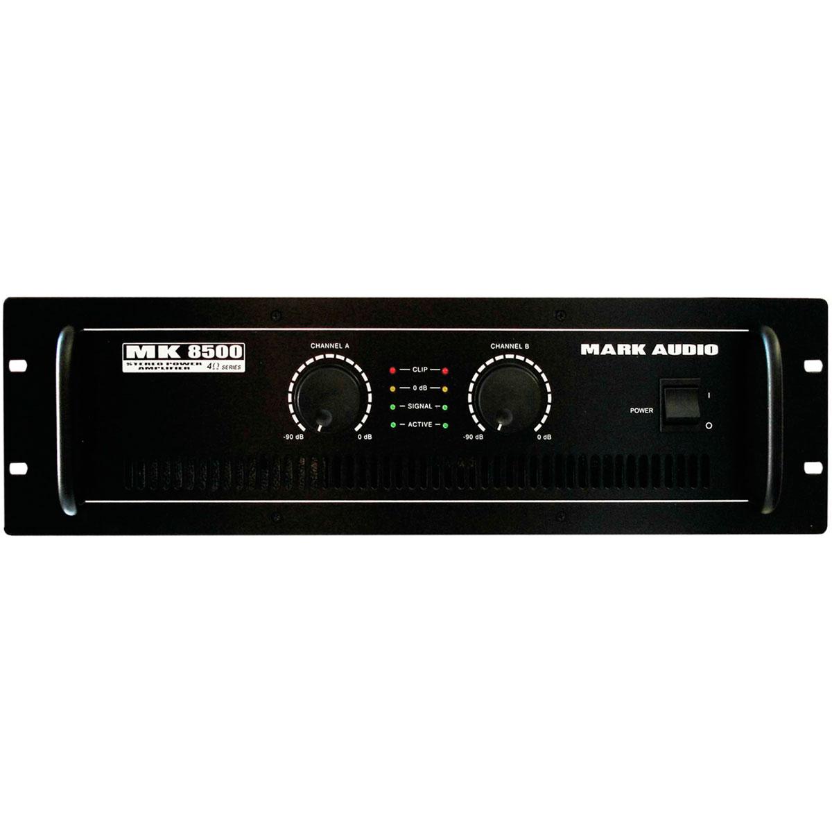 MK8500 - Amplificador Estéreo 2 Canais 1500W MK 8500 - Mark Audio