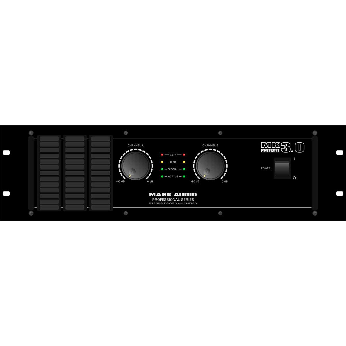 MK3.0 - Amplificador Estéreo 2 Canais 3000W MK 3.0 - Mark Audio