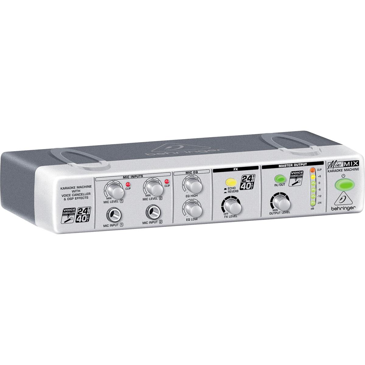 MIX800 - Cancelador de Voz p/ Karaoke Minimix MIX 800 - Behringer
