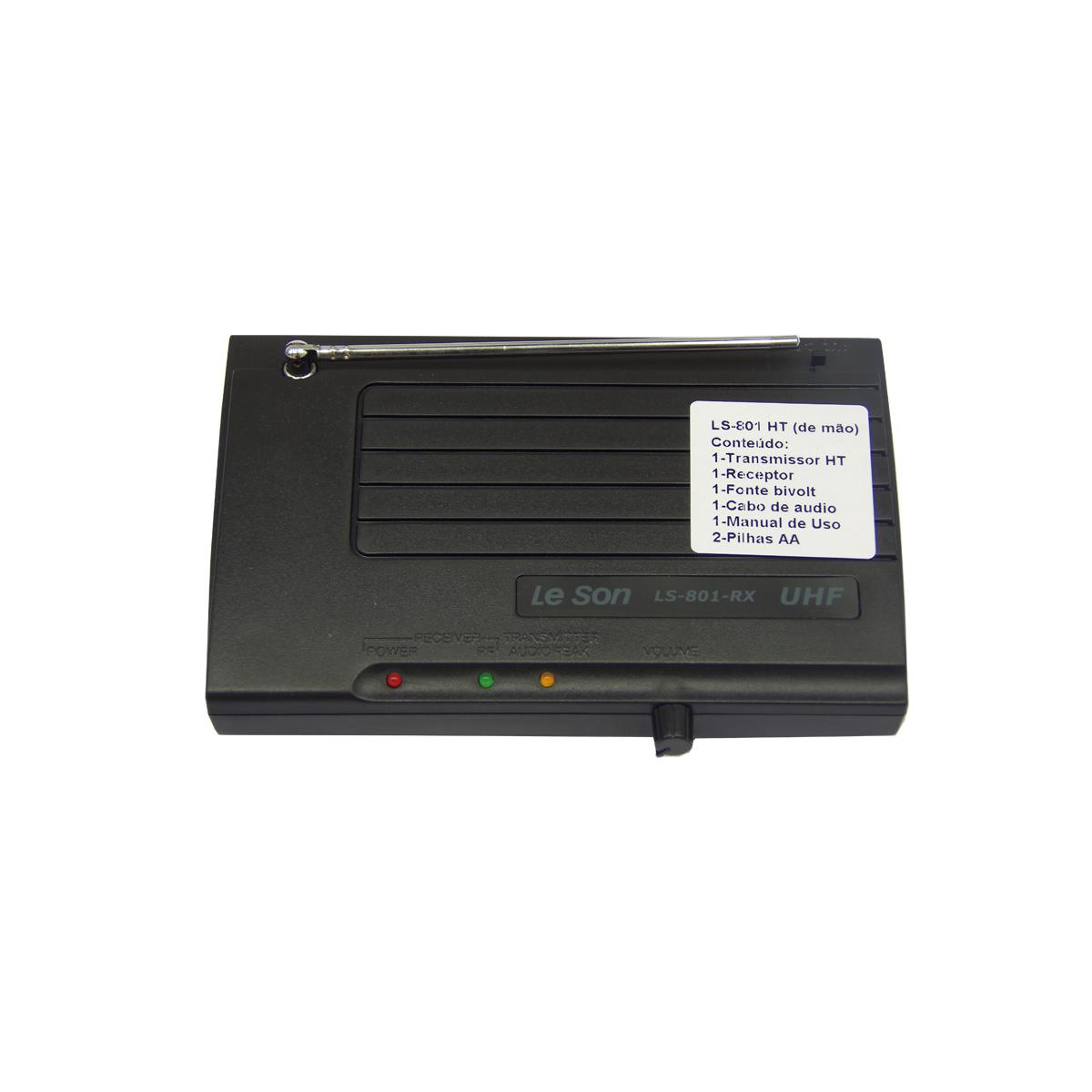 LS801HT - Microfone s/ Fio de Mão UHF LS 801 HT - Le Son