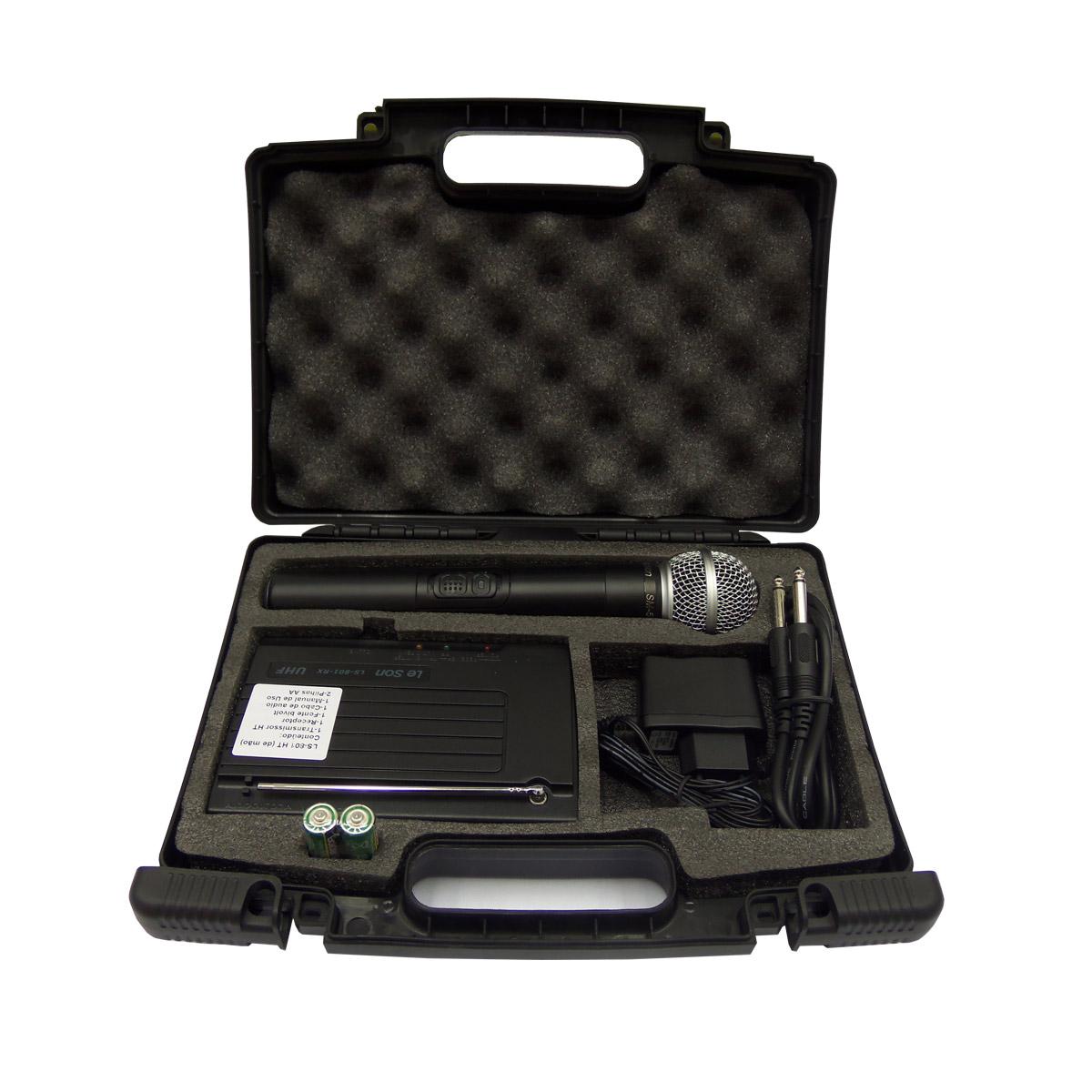 LS801HT - Microfone s/ Fio de M�o UHF LS 801 HT - Le Son