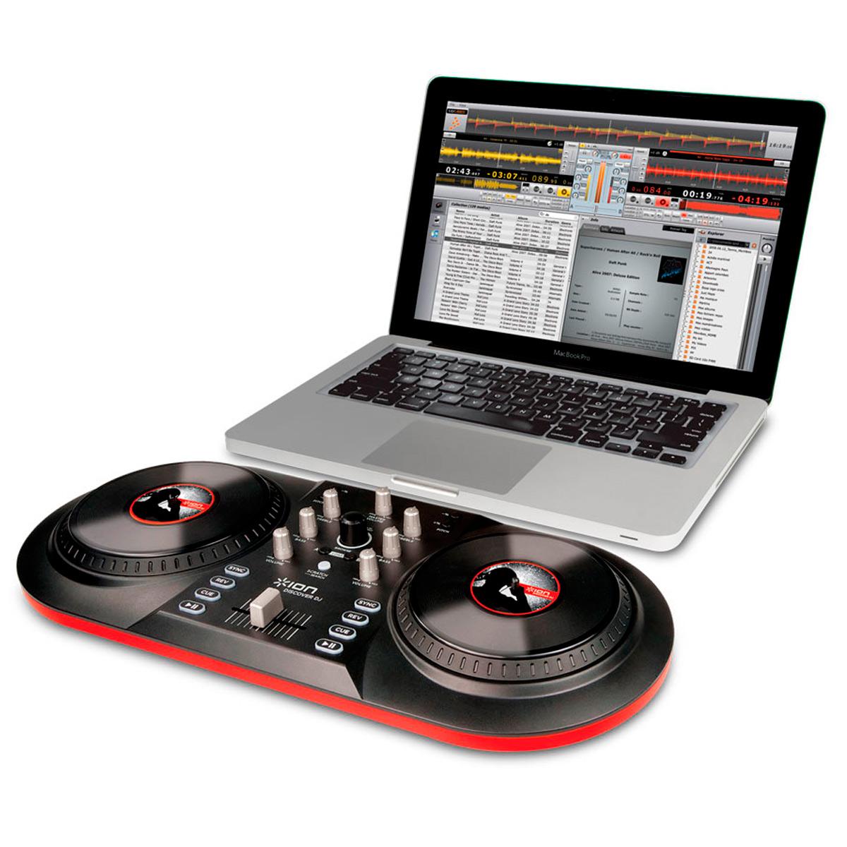 Discover DJION - Controladora DJ c/ USB DJ ION