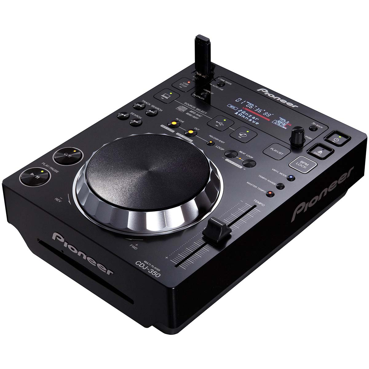 CDJ350 - CDJ Player c/ USB Preto CDJ 350 - Pioneer