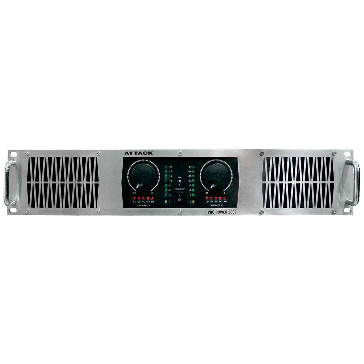PP2002 - Amplificador Estéreo 2 Canais 2000W PP 2002 - Attack