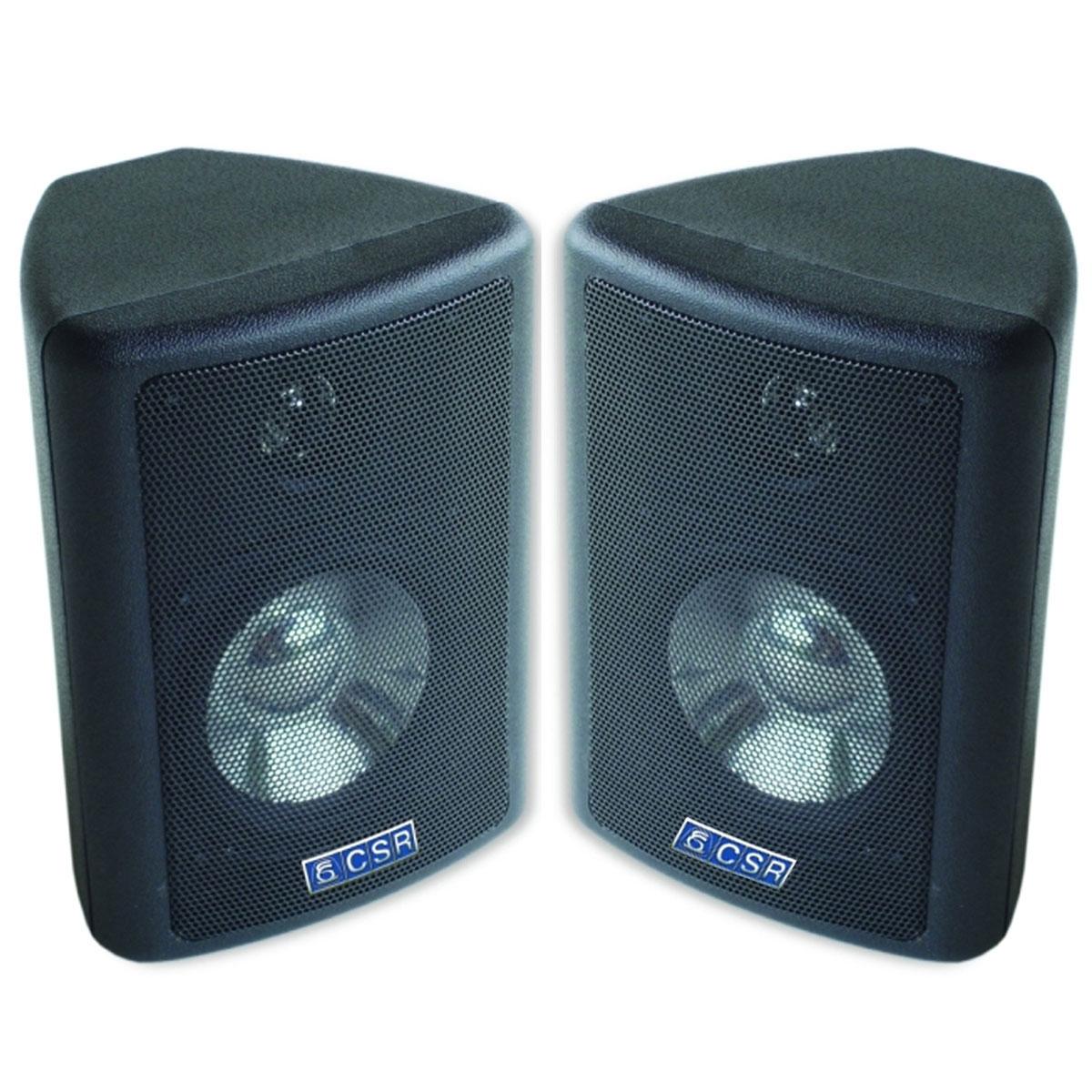 CSR80 - Caixa Passiva 50W Preta c/ Suporte ( Par ) CSR 80 - CSR