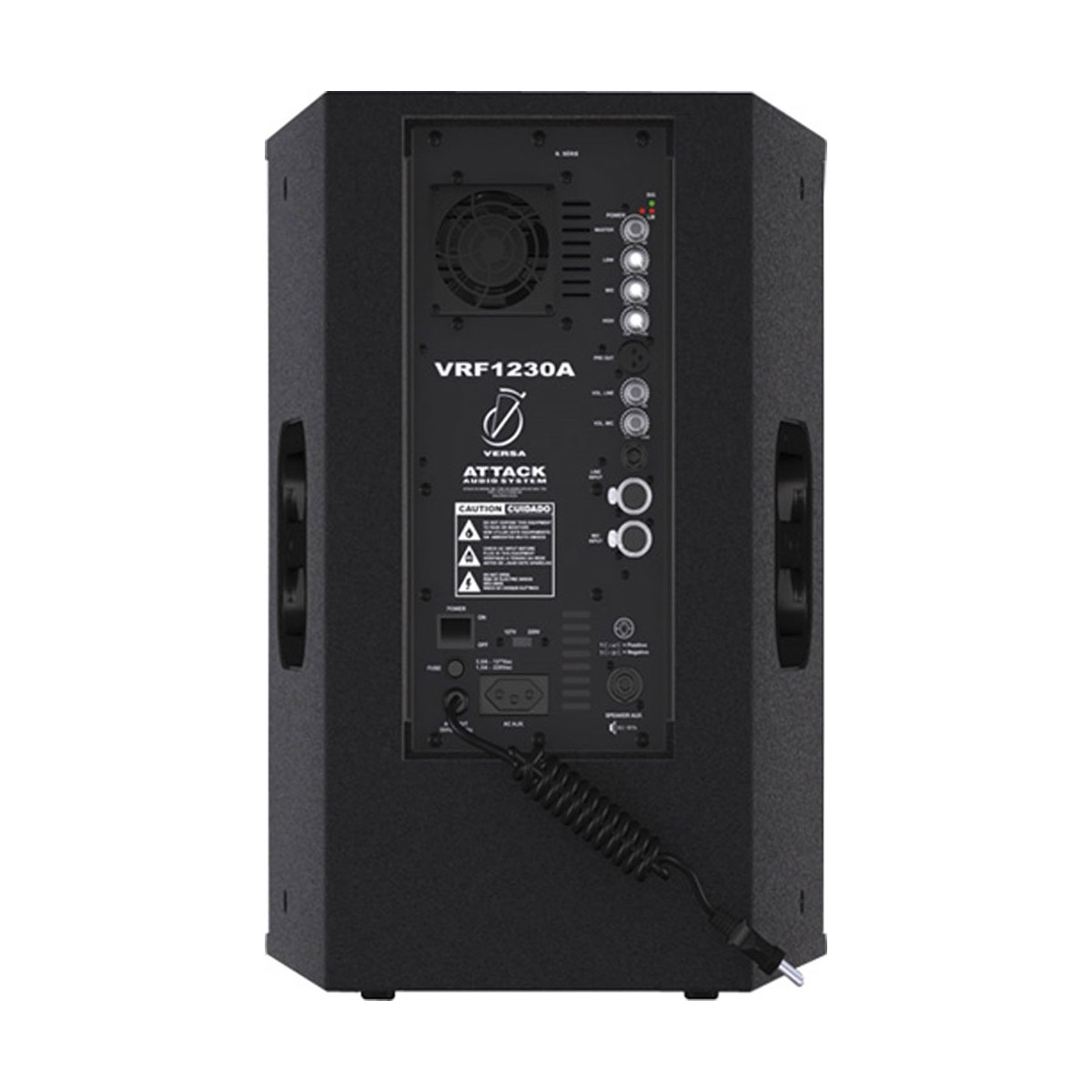 Caixa Ativa 300W VRF1230A Preta - Attack